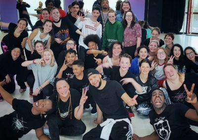 stage salsa hip hop au urban dance studio